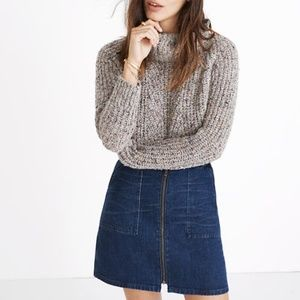 Madewell Denim Utility Zip Mini Skirt